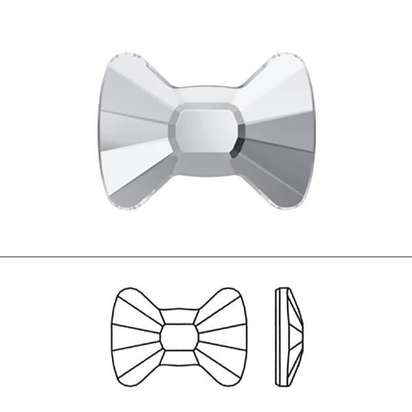 スワロフスキー 『#2858 Bow Tie Flat Back クリスタル/AB F 9×6.5mm 1粒』 SWAROVSKI スワロフスキー社