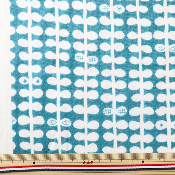 【数量5から】生地 『nina 国産Wガーゼ (ダブルガーゼ) プリント 抗菌防臭加工 D-4 148-1788-D4』