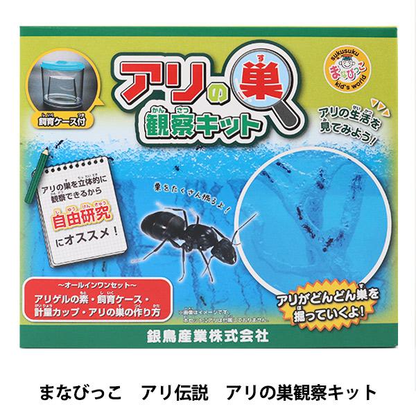 キット 『まなびっこ アリ伝説 アリの巣観察キット』 銀鳥産業