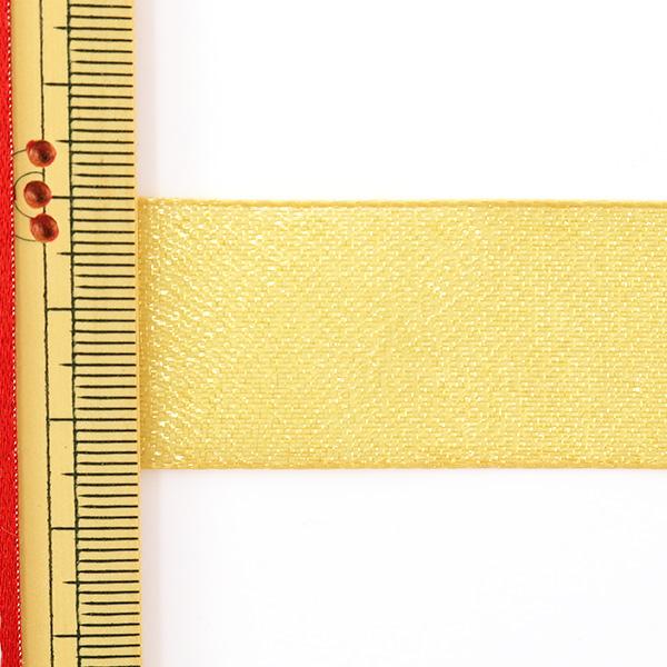 【数量5から】リボン 『ファインクリスタル 25mm幅 44番色 オリーブゴールド』 TOKYO RIBBON 東京リボン