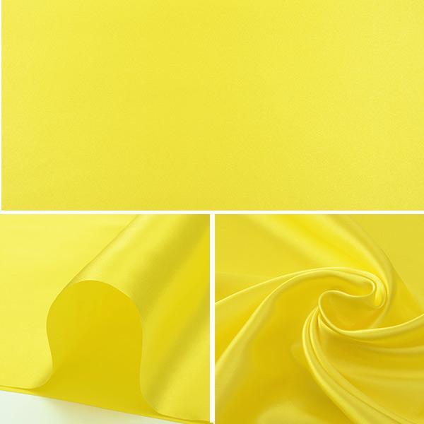【数量5から】生地 『コスチュームサテン 43 イエロー (黄色)』【ユザワヤ限定商品】