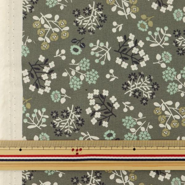 【数量5から】生地 『シーチングプリント 北欧調 花柄 AP11704-2E』