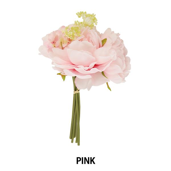 造花 シルクフラワー 『ピオニーベリーバンドル ピンク』