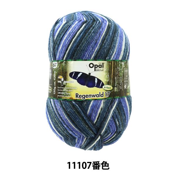 ソックヤーン 毛糸 『Regenwald17(レーゲンヴァルト17) 11107番色』 Opal オパール