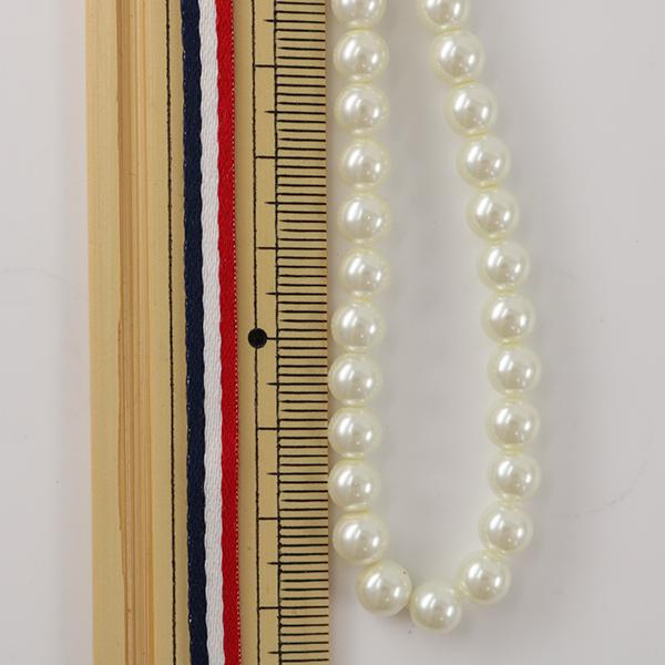 手芸金具 『ガラスパール 6mm 約35粒 ホワイト』
