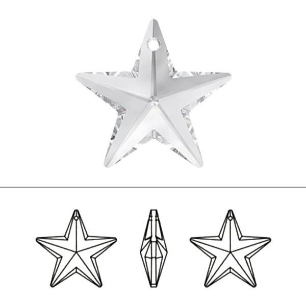 スワロフスキー 『#6714 Star Pendant クリスタル/AB 28mm 1粒』 SWAROVSKI スワロフスキー社