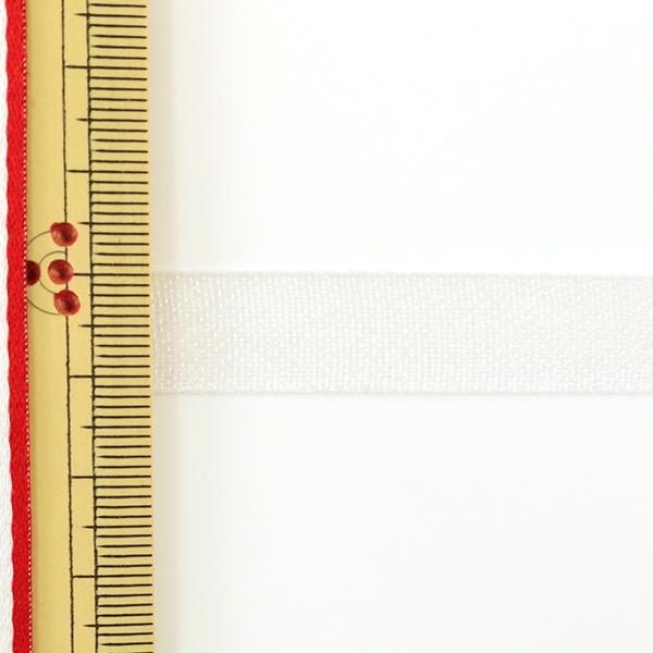 【数量5から】リボン 『ファインクリスタル 12mm幅 1番色 スノーホワイト』 TOKYO RIBBON 東京リボン
