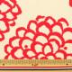 【数量5から】生地 『ツイルプリント生地 ダリヤ柄UP5540 生地 布 コットン 入園 入学 インテリア しろ×あか』 COTTON KOBAYASHI コットンこばやし 小林繊維