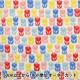 【数量5から】生地 『シーチング FANTASTIC WORLD チューリップ レッド LGA-41000-3C』 KOKKA コッカ