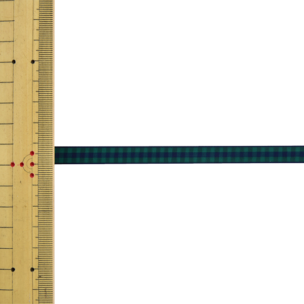 【数量5から】 リボン 『チェックリボン 4749K 8番色』 MOKUBA 木馬
