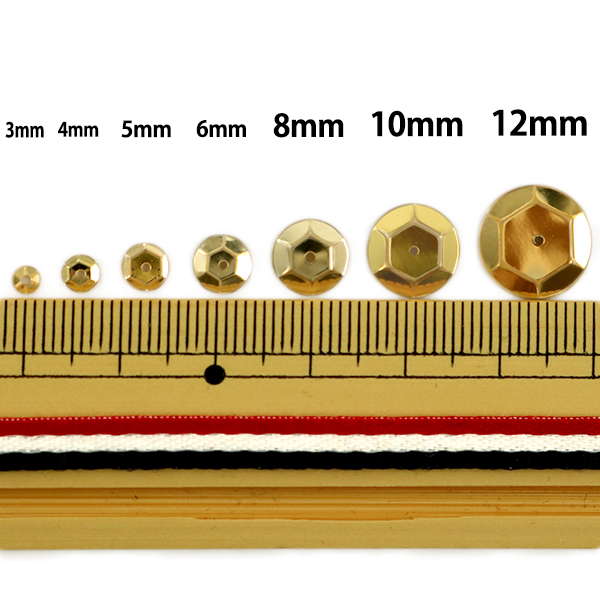 スパンコール 『亀甲 6mm CUP 510番色』