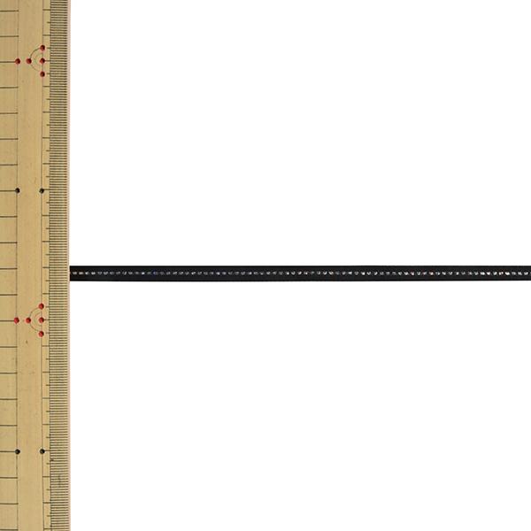 【数量5から】リボン 『グリッターWサテン 幅約6mm 17番色 ブラック 33111』 TOKYO RIBBON 東京リボン