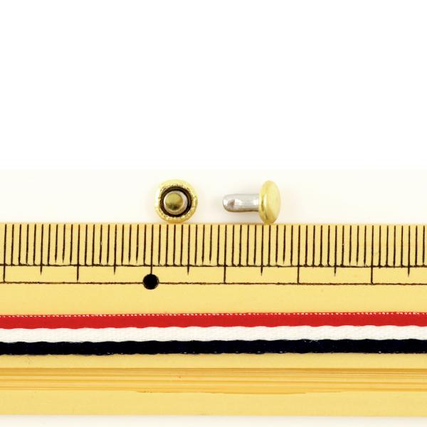 【レザークラフト最大20%オフ】 レザー金具 『両面カシメ (小) G 50個入り 75512-02』 KYOSHIN-ELLE 協進エル