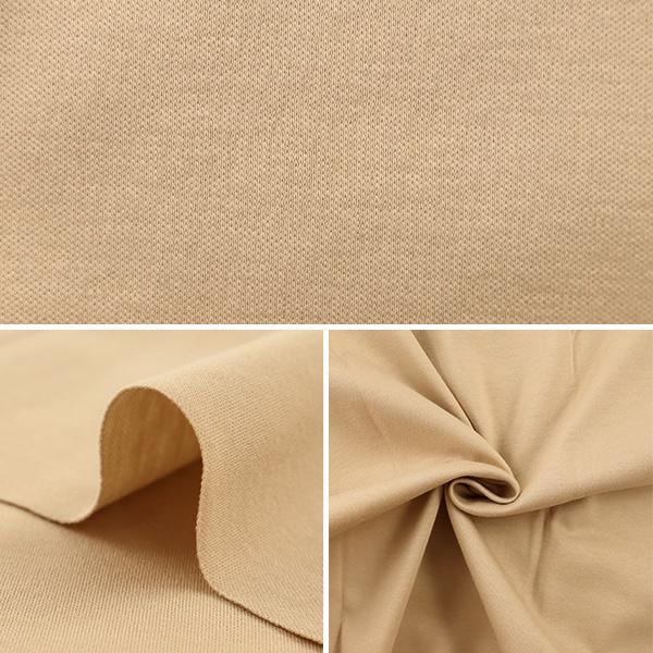 生地 『保湿素材オアシスロード 綿60スムース カットクロス 約75×60cm ベージュ C-209-3』
