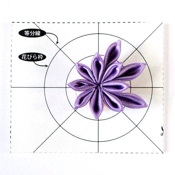 手芸キット 『サテン生地で作る きらきらつまみ細工 バレッタ 紫 LH-406』 Panami パナミ タカギ繊維