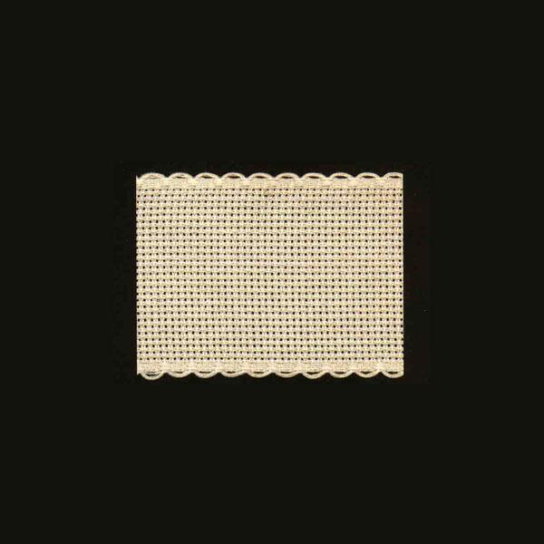 刺しゅう布 『ZWEIGART (ツバイガルト) アイーダテープ 5cm巾 1mカット 7107 12黄色』 Original Zweigart Handarbeits-Stoff