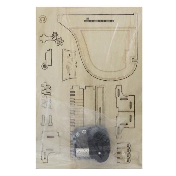 工作キット 『木で作るオルゴール工作キット グランドピアノ EKWK-286』 寺井