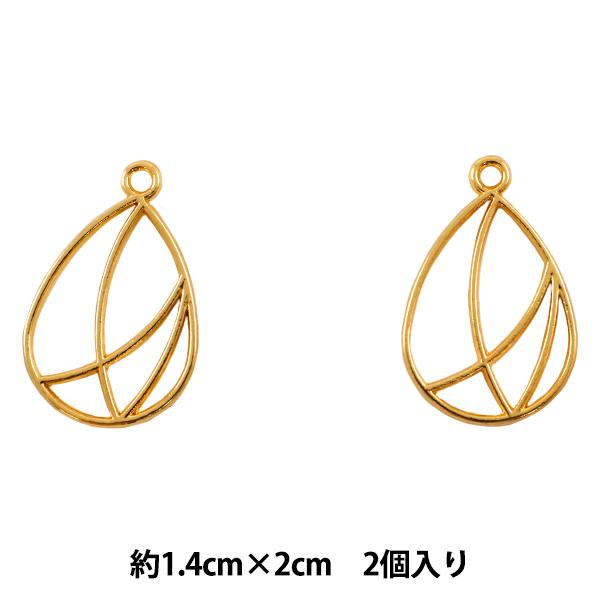 レジンパーツ 『レジン枠 (カン付) 幾何学#6 ゴールド』
