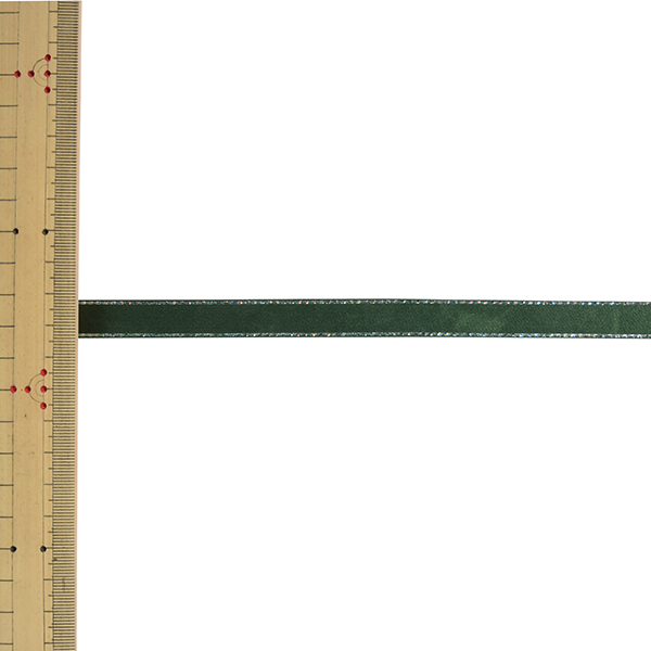 【数量5から】リボン 『グリッターWサテン 幅約1.2cm 16番色 グリーン 33112』 TOKYO RIBBON 東京リボン