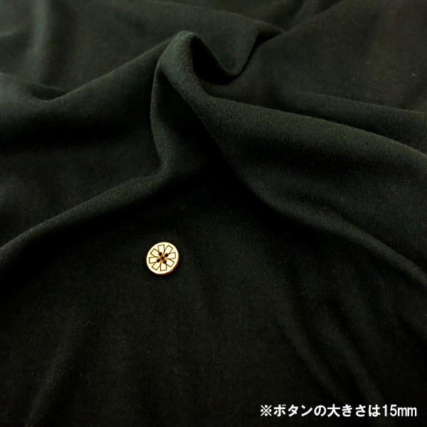 【数量5から】生地 『40スムース 黒 YNS40165-BK』