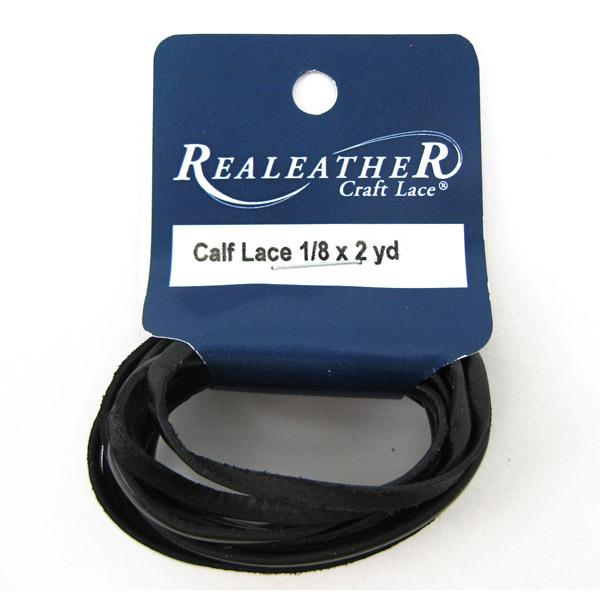 レザー素材 『カーフレース1.8mx3.2mm Black RCL01802革』