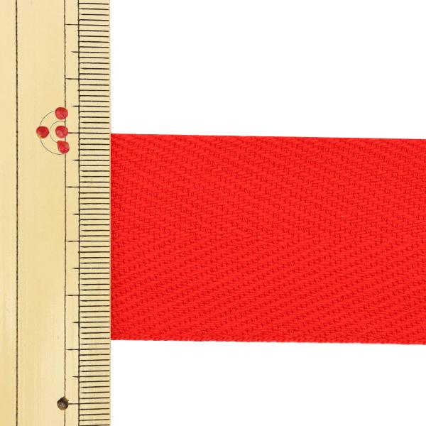 【数量5から】 手芸テープ 『杉綾テープ 幅3.8cm #506 赤』