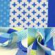 【数量5から】生地 『シーチング FANTASTIC WORLD パッチワーク ブルー LGA-41000-4C』 KOKKA コッカ