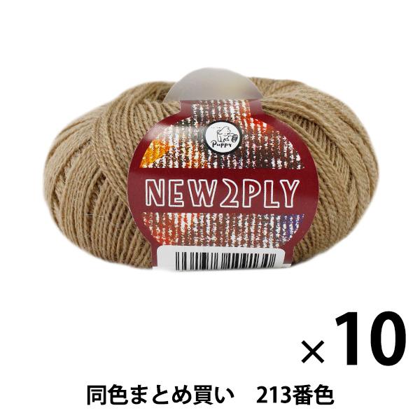 【10玉セット】秋冬毛糸 『NEW 2PLY(ニューツープライ) 213番色』 Puppy パピー【まとめ買い・大口】