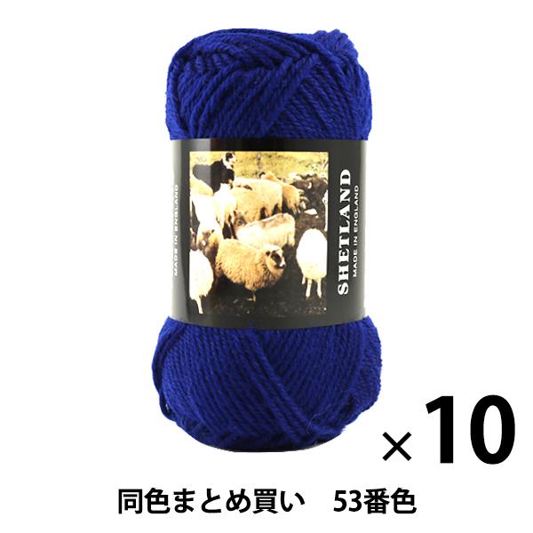 【10玉セット】秋冬毛糸 『SHETLAND(シェットランド) 53番色』 Puppy パピー【まとめ買い・大口】