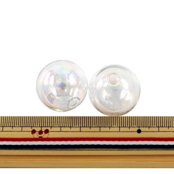 アクセサリー素材 『ガラスドーム AB 25mm 2個入り』