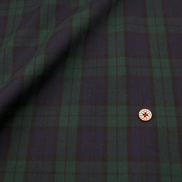 【数量5から】生地 『T/Rタータン (片面起毛) 紺×緑×黒 8838-238』