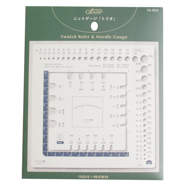 編み物ツール 『ニットゲージ トリオ 55-803』 Clover クロバー