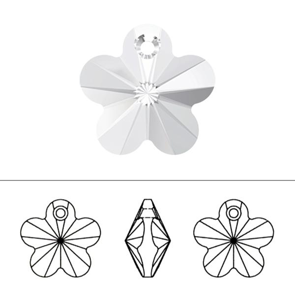 スワロフスキー 『#6744 Flower Pendant クリスタル 14mm 1粒』 SWAROVSKI