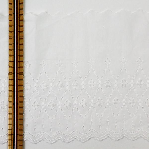 【数量5から】レースリボンテープ 『綿レース 幅広 オフホワイト 23674』