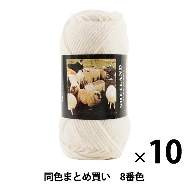 【10玉セット】秋冬毛糸 『SHETLAND(シェットランド) 8番色』 Puppy パピー【まとめ買い・大口】