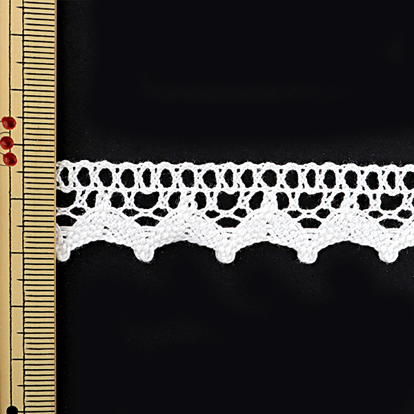 【数量5から】レースリボンテープ 『トーションレース 白 幅約18mm 2477』
