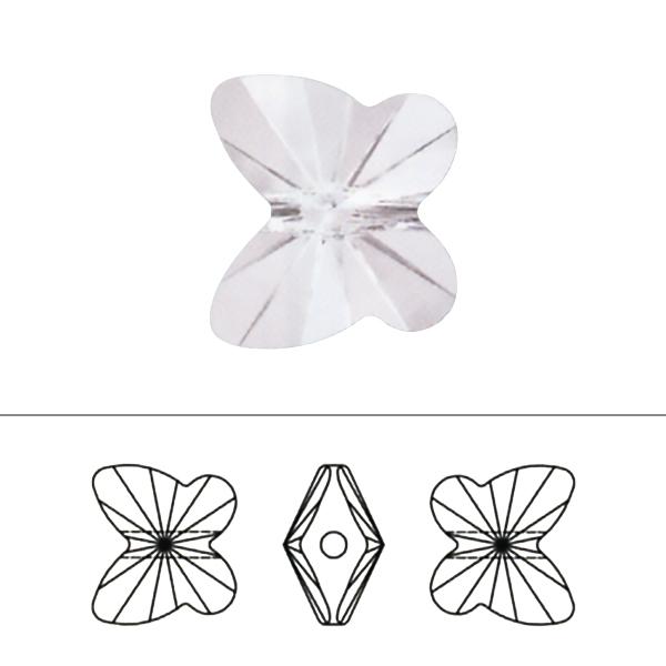 スワロフスキー 『#5754 Butterfly Bead アクアマリン 6mm 2粒』 SWAROVSKI スワロフスキー社