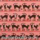 【数量5から】生地 『シーチング ACTION PATTERN ネコ柄 コーラルピンク LGA-41030-1B』 KOKKA コッカ