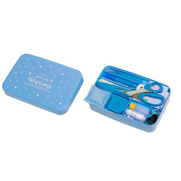 ソーイングセット 裁縫セット 『TOREMY (トレミー) ソーイングセット うす型タイプ ブルー No.1464』 misasa ミササ