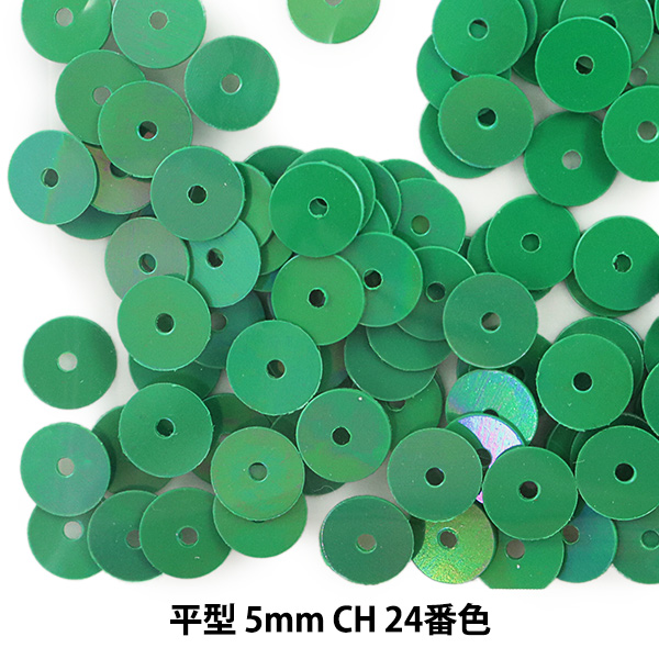 スパンコール 『平型 5mm CH 24番色』