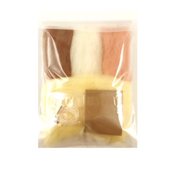 羊毛フェルトキット 『アクレーヌキット キンクマハムスターのブローチ H441-575』 Hamanaka ハマナカ