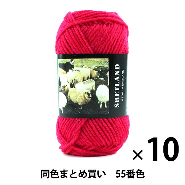 【10玉セット】秋冬毛糸 『SHETLAND(シェットランド) 55番色』 Puppy パピー【まとめ買い・大口】