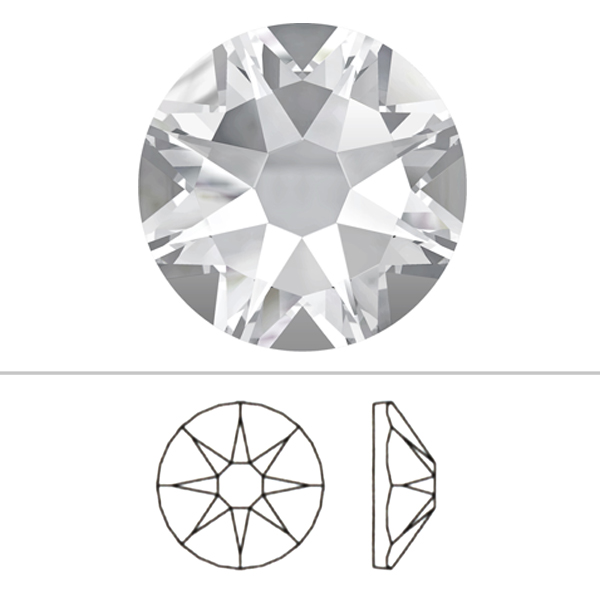 スワロフスキー 『#2088 XIRIUS Flat Back No-Hotfix デニムブルー 20粒』 SWAROVSKI スワロフスキー社