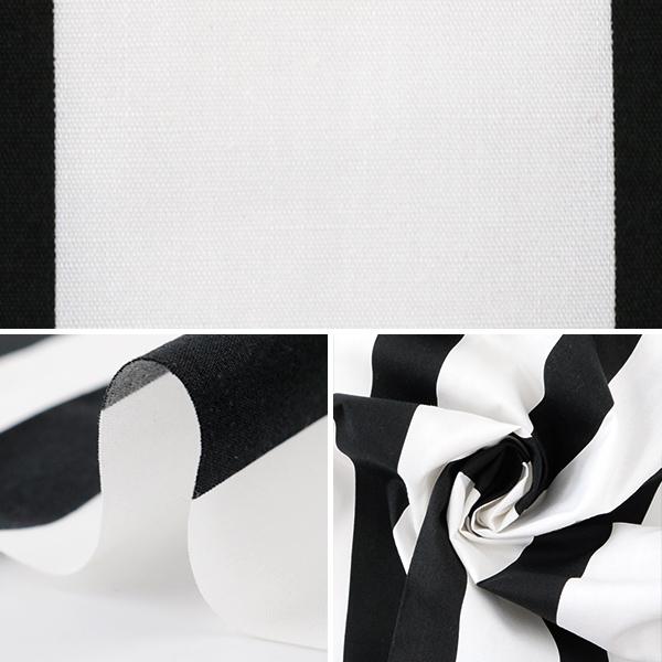 【コスプレ関連最大20%オフ】 【数量5から】 生地 『ストライプ ブロード 黒×白』 99078-4A