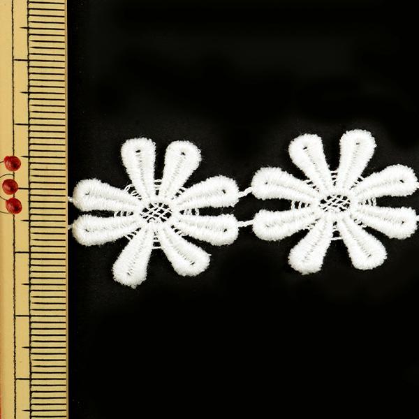 【数量5から】レースリボンテープ 『ケミカルレース 白 幅約23mm 25516』
