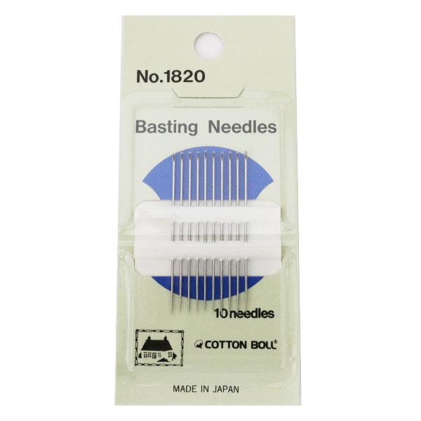手縫い針 『Basting Needles No.1820 10本入』 COTTON BOLL コットンボール 金亀糸業