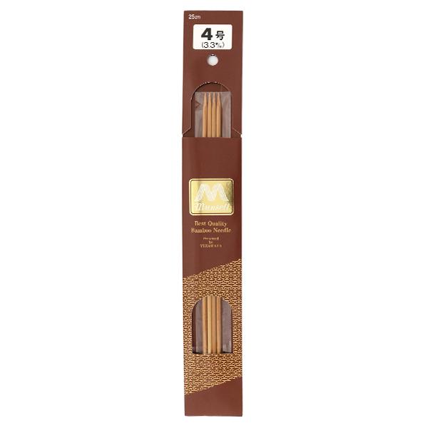 編み針 『硬質竹編針 4本針 25cm 4号』 mansell マンセル【ユザワヤ限定商品】