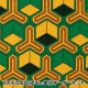 【数量5から】 生地 『毘沙門亀甲 ブロード 黄色×緑 99078-5A』