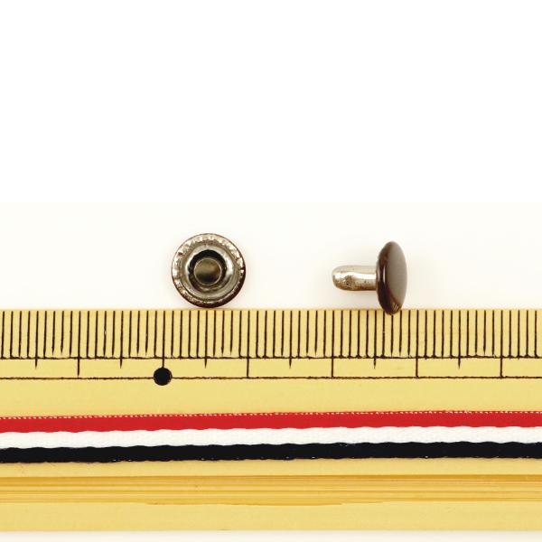 【レザークラフト最大20%オフ】 レザー金具 『両面カシメ (中) 茶 20個入り 75509-06』 KYOSHIN-ELLE 協進エル