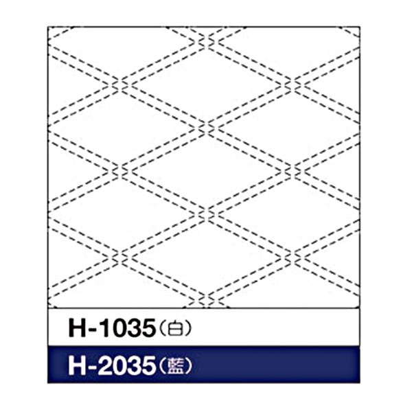 刺しゅう布 『刺し子 花ふきん 布パック 襷 (たすき) (白) H-1035』 Olympus オリムパス